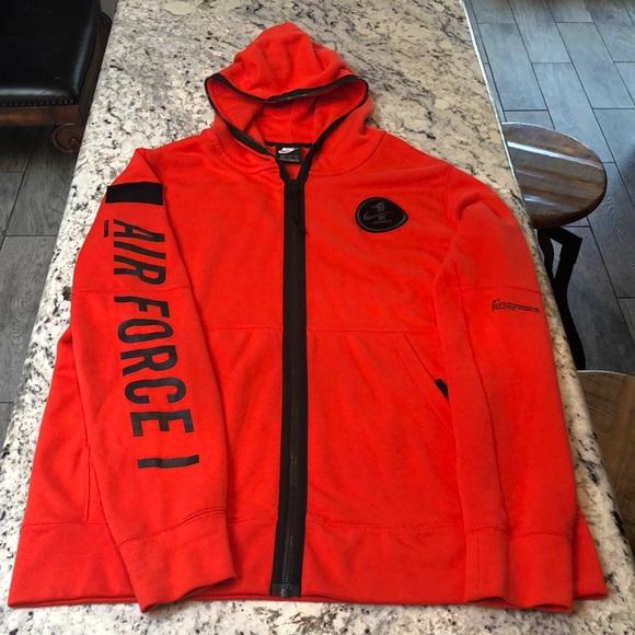 Air Hoodie Orange Nike 1 Force uT31JlKcF